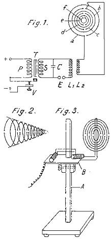 Схема генератора электромагнитных волн Георгия Лаховского.