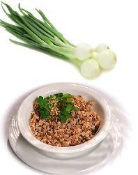 Полезный ужин - быстрый рецепт - гречневая каша с луком.