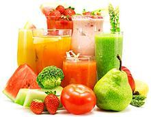 Жидкое питание - фруктовые и овощные соки и смузи.
