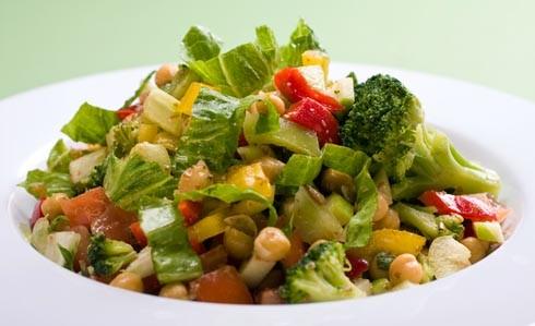 Углеводы: овощной салат