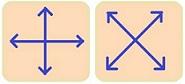 Мезороллер - направления движения при массаже.