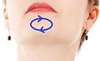 Вакуумный массаж подбородка - массажные линии.