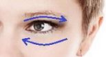 Вакуумный массаж области вокруг глаз - массажные линии.