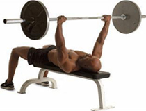 упражнения на грудь - жим лежа