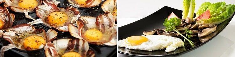 Вред и польза - усвояемость куриных яиц: яйцо с овощами или яйцо с беконом?