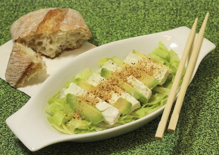 Соя - салат из тофу с авокадо (с какими продуктами сочетается соя)